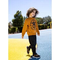 Tweekleurige jogging van molton met skateboardprint , Orchestra