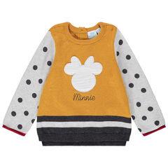 Pull en tricot à pois et rayures serti Minnie Disney