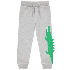 Pantalon de jogging en molleton print crocodile