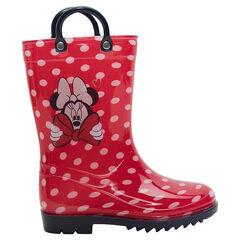 Bottes de pluie fille à pois motif Minnie du 24 au 27