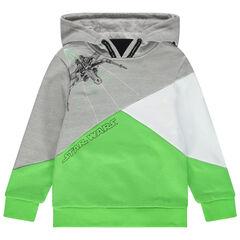 Sweatshirt met kap in drie kleuren en Star Wards print
