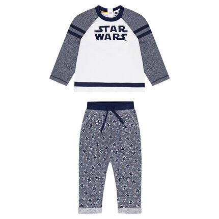 """Jogging uit molton met geborduurd Star Wars™ opschrift en broek met print """"all-over"""""""