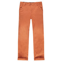 Junior - Effen slim-fit broek