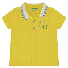 Polo manches courtes en jersey avec ouverture pressionnée devant