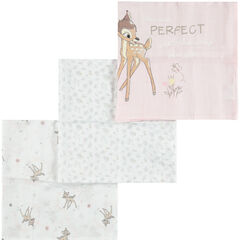 Set de 3 langes en coton tétra Bambi Disney