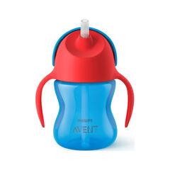 Tasse avec paille 200 ml - Bleu