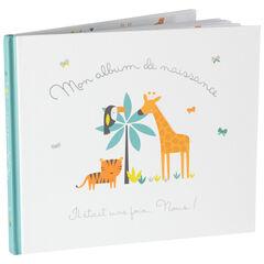 Album de naissance motif animaux de la jungle