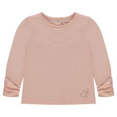 Tee-shirt manches longues en jersey avec logo printé