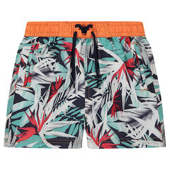 "Zwemshort met plantenprint ""all-over"""