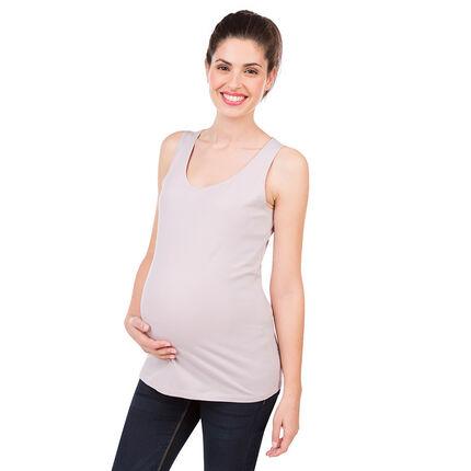 Effen zwangerschapstanktop uit biokatoen