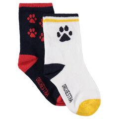 Set met 2 paar matching sokken met prints van jacquard
