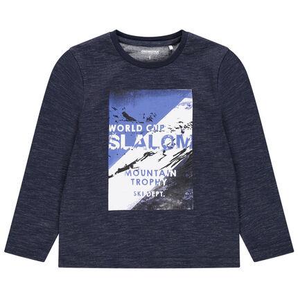 T-shirt manches longues en jersey avec paysage printé