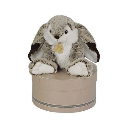 Knuffel konijn Marius medium 30 cm - Grijs/wit