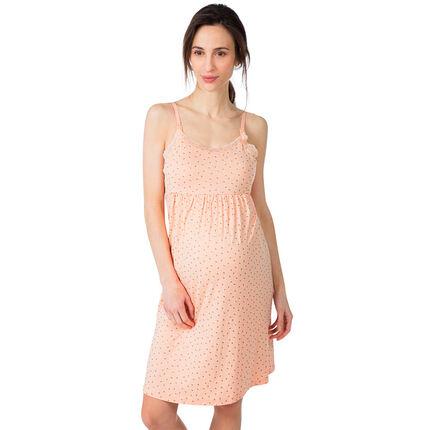 """Zwangerschaps- en borstvoedingsnachthemd met print """"all-over"""""""