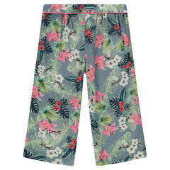 "Brede capri met bloemenprint ""all-over"""
