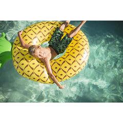 Junior - Bermuda de bain avec imprimé végétal et rayures