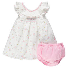 Ensemble avec robe imprimée all-over et bloomer assorti