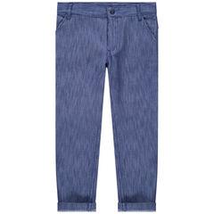 Pantalon chiné en coton fantaisie