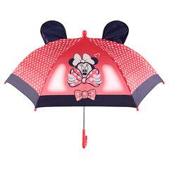 Paraplu met stippen en reliëforen van ©Disney's Minnie