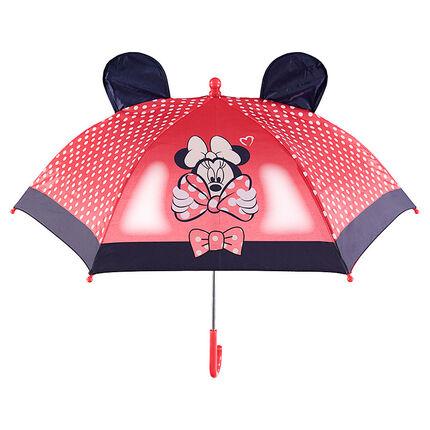 Parapluie Minnie ©Disney avec pois printés et oreilles en relief