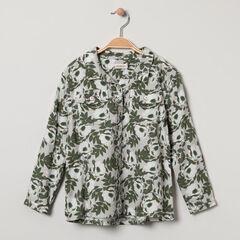 Chemise à manches longues en twill avec imprimé floral