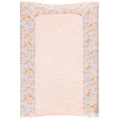 Housse de matelas à langer avec tapis en éponge et imprimé renards