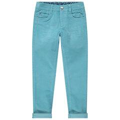 Pantalon en velours ras coupe slim