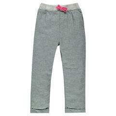 Pantalon loose en coton fantaisie