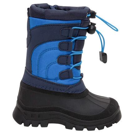 Sneeuwlaarzen met rubberen bekleding en aantreklintjes