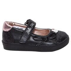 """Zwarte """"Hello Kitty"""" meisjesschoenen met pailletjes"""