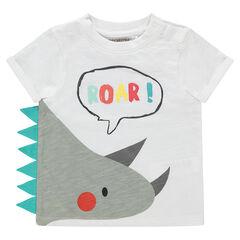 T-shirt van organisch katoen met print met fantasiemotief