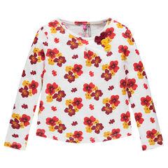 Tee-shirt manches longues imprimé fleuri