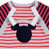 Lange playsuit van tricot in retrostijl met inzetstuk van ©Disney's Mickey