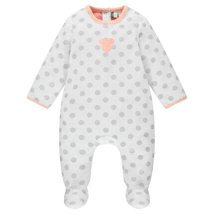 Fluwelen pyjama met stippenprint van Disney's Minnie