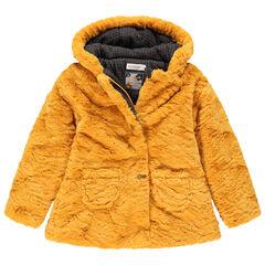 Parka à capuche en sherpa doublée jersey