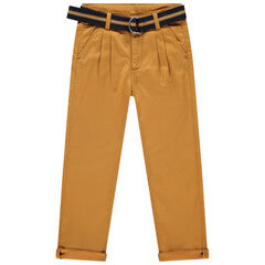 Pantalon forme chino à ceinture amovible