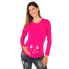 T-shirt lange mouwen voor tijdens de zwangerschap fantasieprint