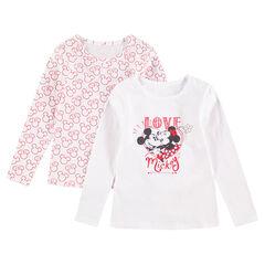 Set van 2 T-shirts met lange mouwen (body's) in jerseystof van Mickey & Minnie ©Disney