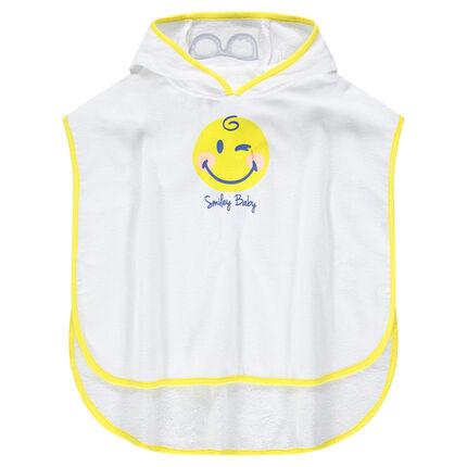 Cape de bain à capuche avec print Smiley