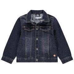Veste en jean effet used à poches