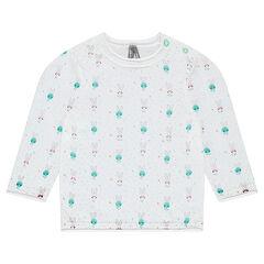 Pull en tricot avec motif fantaisie