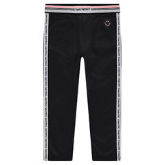 Junior - legging van jerseystof met elastische taille en stroken met ©Smiley-print