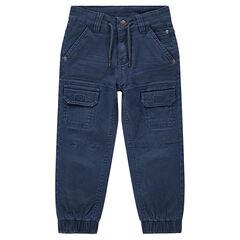 Pantalon surteint avec poches et chevilles élastiquées
