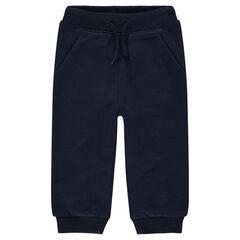Pantalon de jogging en molleton gris chiné