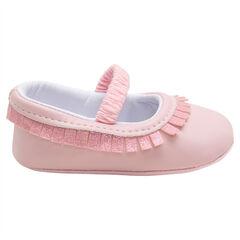 Soepele meisjesschoenen met franjes met pailletjes