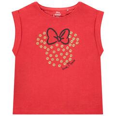 T-shirt manches courtes motif Minnie Disney en sequins dorés , Orchestra