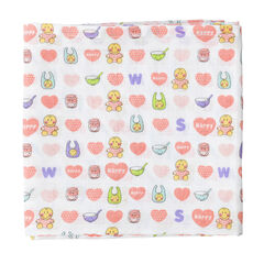 Set de 3 langes 70 x 70 cm Smiley Baby
