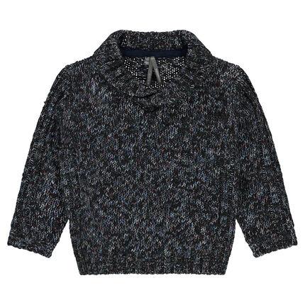 Pull en tricot avec col croisé