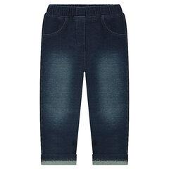 Legging met used jeans effect