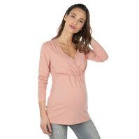 Zwangerschaps- en borstvoedings-T-shirt met lange mouwen.